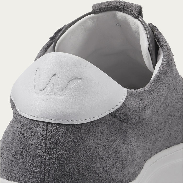 Mid Grey Cartes Retro Tennis Sneaker   Bombinate
