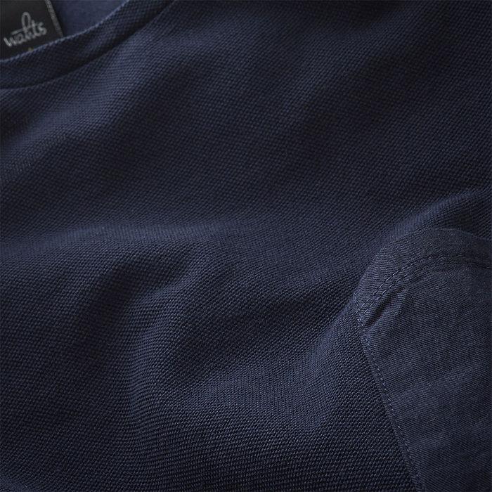 Navy Blue Dean Piqué T-Shirt | Bombinate