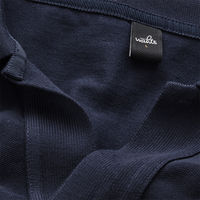 Navy Blue Rice Retro Poloshirt | Bombinate