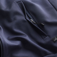 Navy Blue Shelton Tech Jersey Jacket | Bombinate