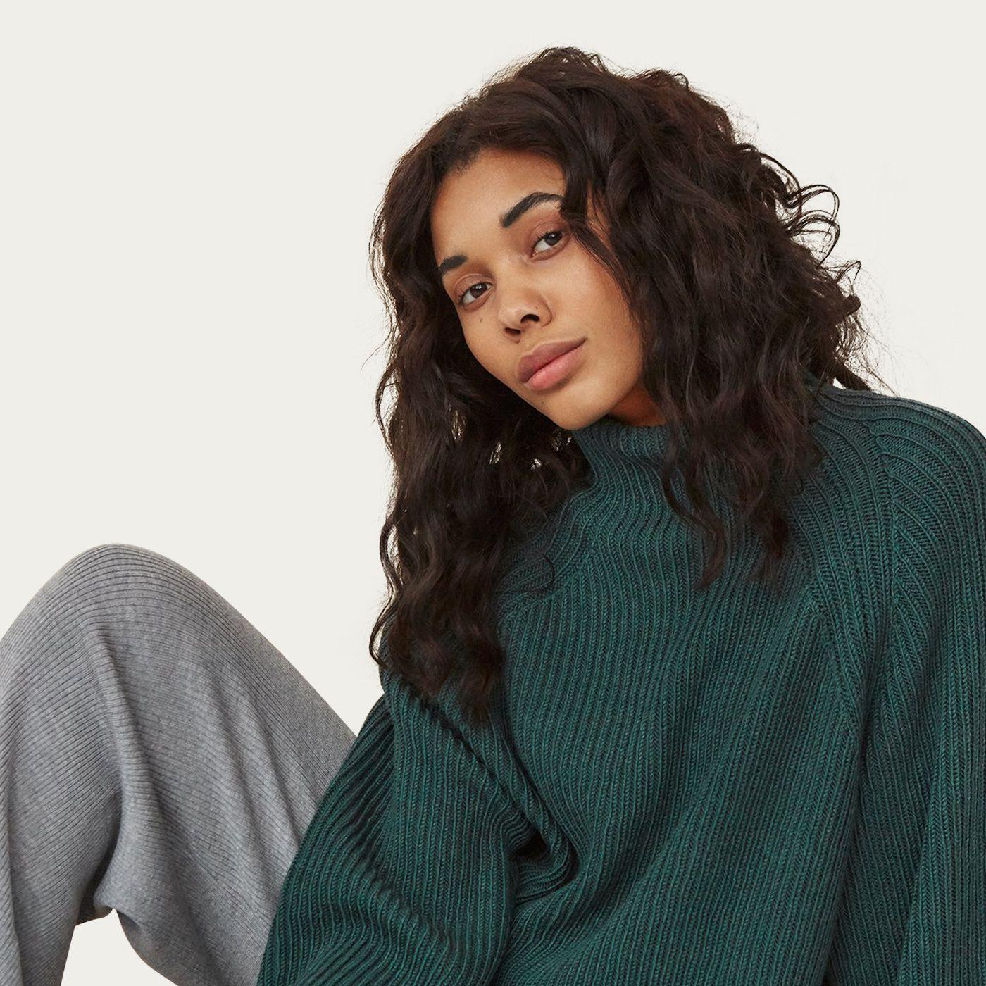 Pine Sweater/ Grey Pants Milda Mix & Match Loungewear Set | Bombinate