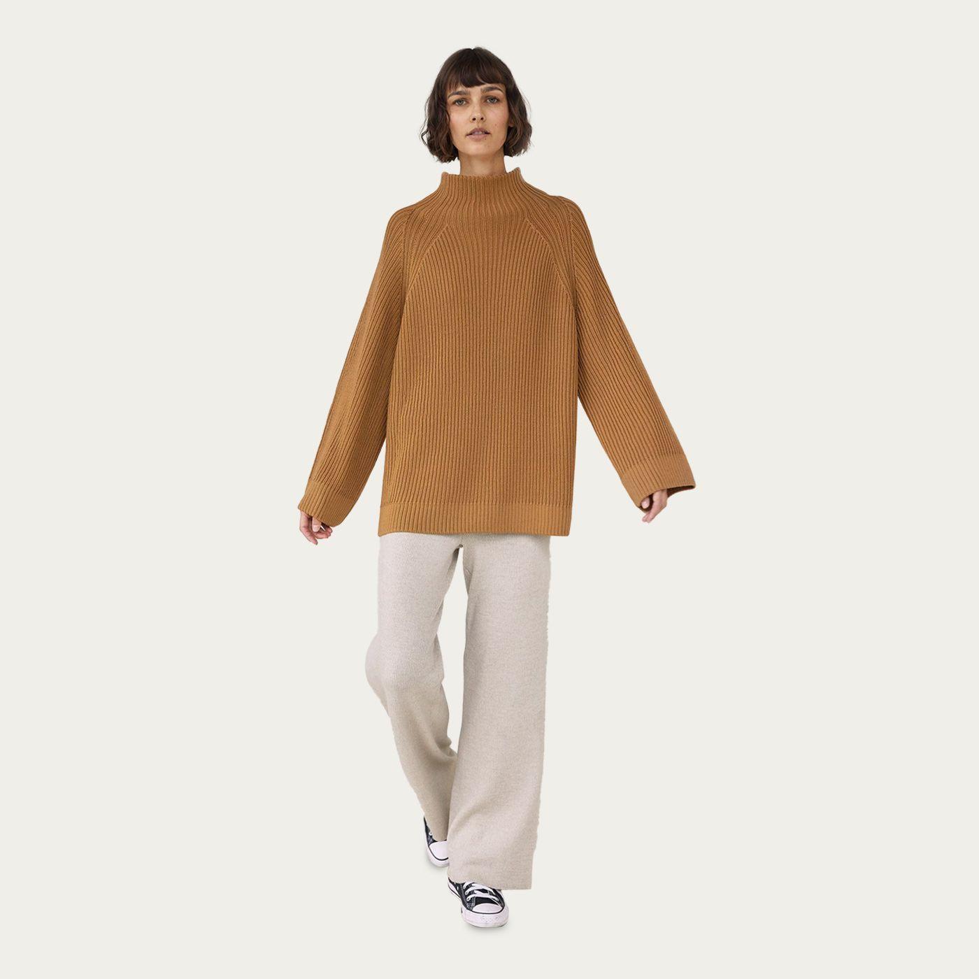 Camel Sweater/ Pearl Pants Milda Mix & Match Loungewear Set   Bombinate
