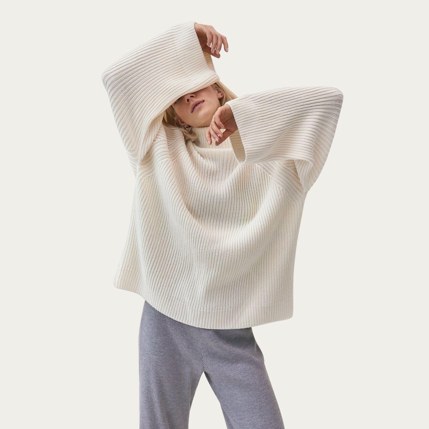 Sea Salt Sweater/ Grey Pants Milda Mix & Match Loungewear Set   Bombinate