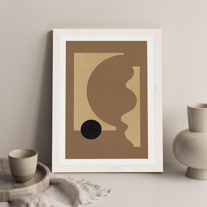 Totem 01 Art Print White Frame | Bombinate