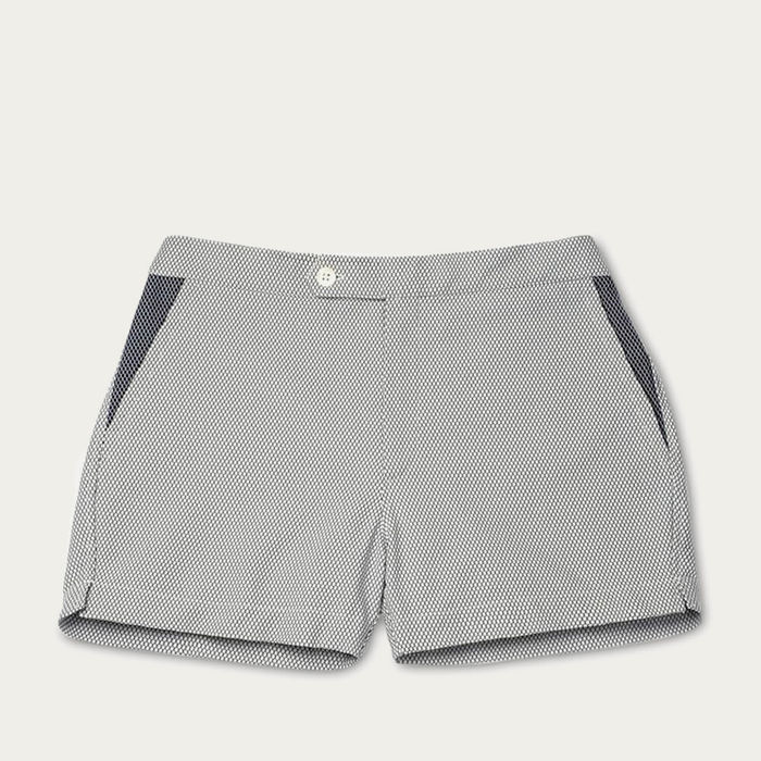 White Smoke Luchino Swim Shorts | Bombinate