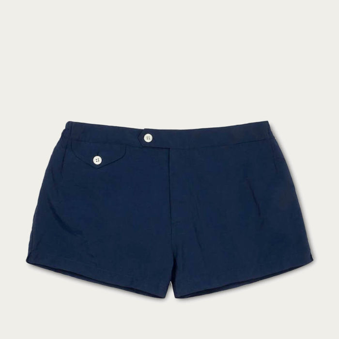 Dark Blue Ugo Swim Shorts | Bombinate