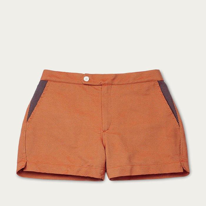 Orange Luchino Swim Shorts   Bombinate