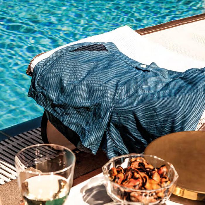 Light Blue Luchino Swim Shorts   Bombinate