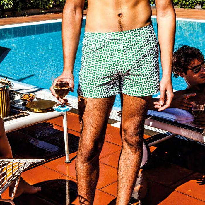 Green Marcello Swim Trunks | Bombinate