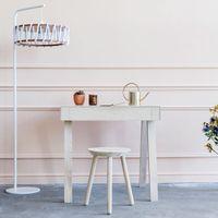 White Macaron Floor Lamp D45 | Bombinate