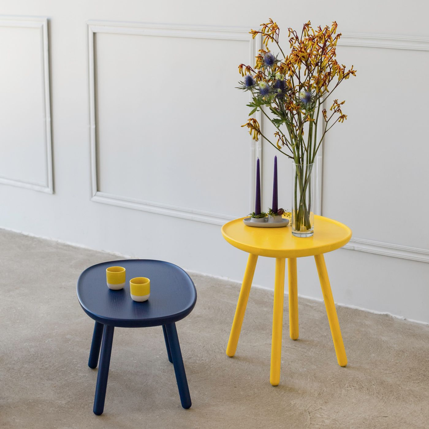 Yellow Naive Side Tables   Bombinate