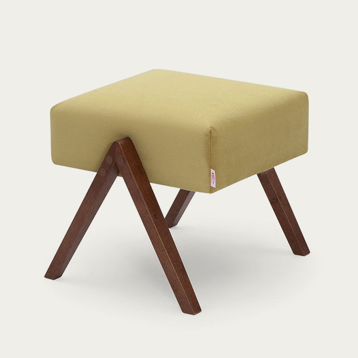 Lemon Retrostar Footstool Velvet Line | Bombinate