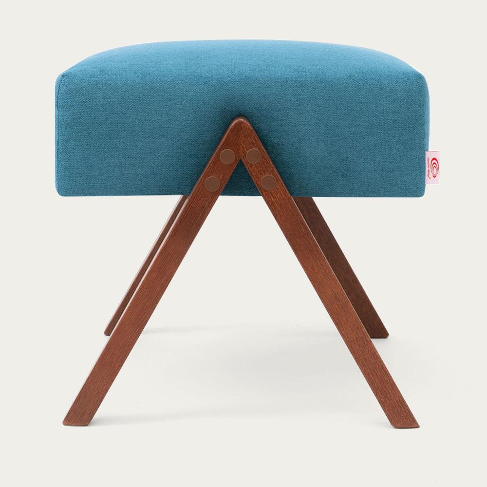 Turquoise Retrostar Footstool Classic Line   Bombinate