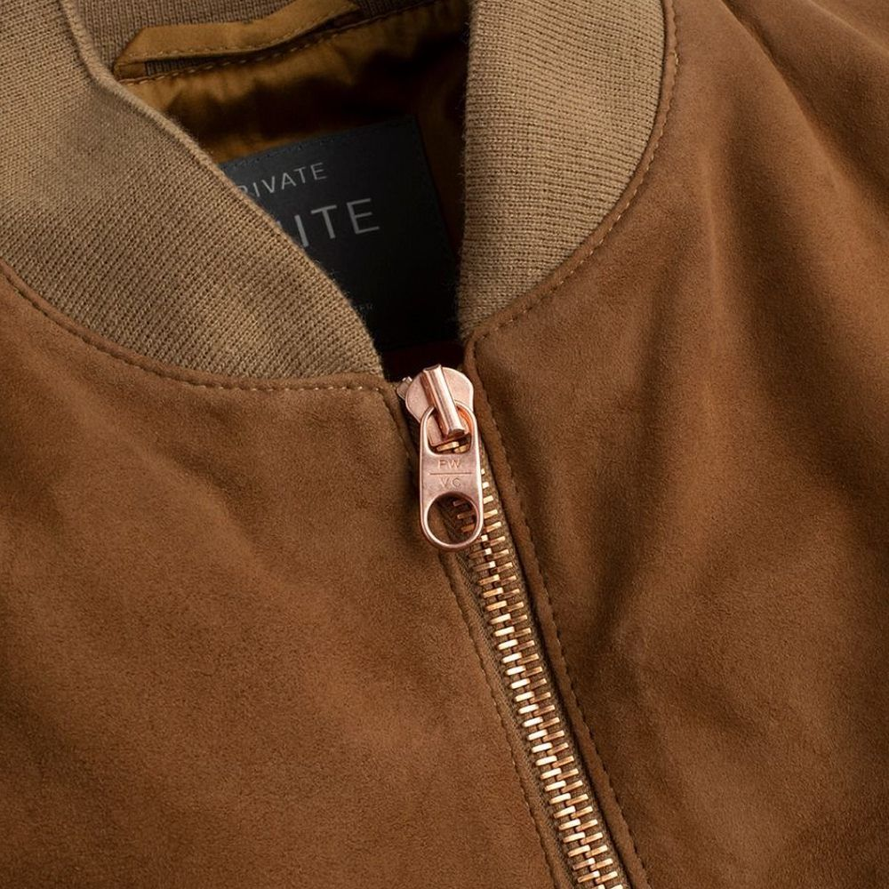The Deluxe Tan Suede Bomber | Bombinate