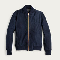 The Deluxe Navy Suede Bomber  | Bombinate