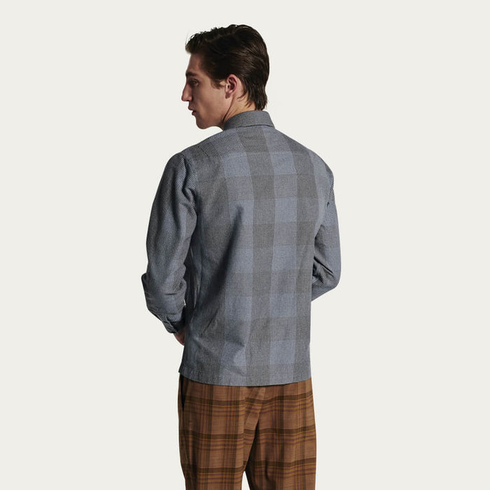 Strong Shirt in Navy Check Flannel | Bombinate