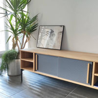 Solid Oak/ Anthracite Gray Uribitarte Sideboard | Bombinate