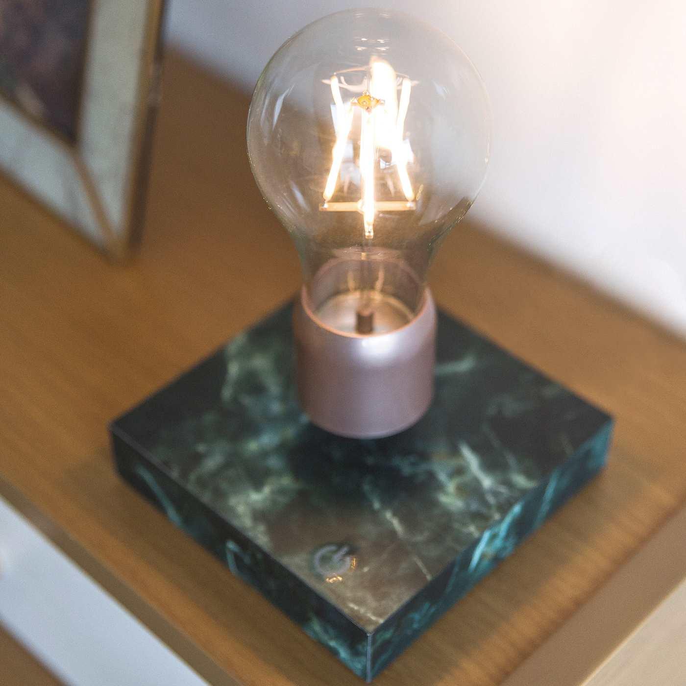 Black Marble Levitating Light | Bombinate