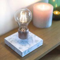 White Marble Levitating Light  | Bombinate