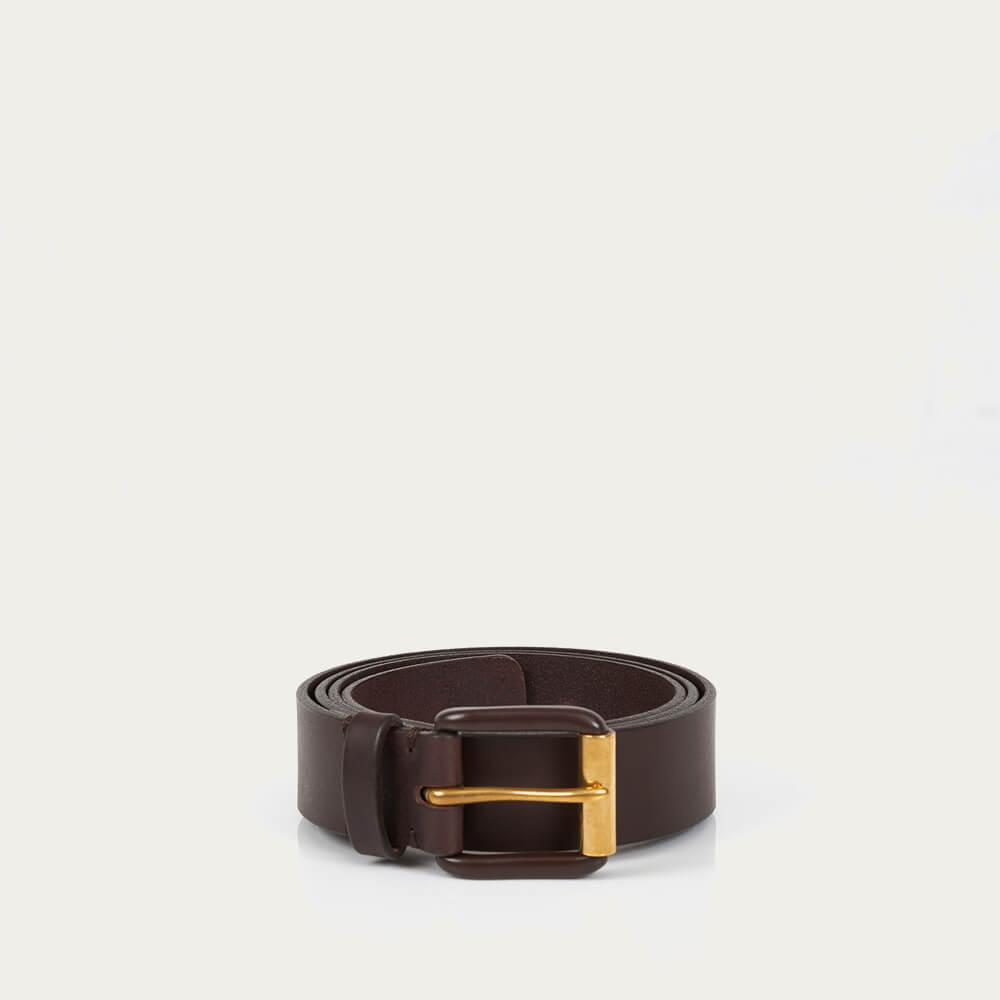 Chocolate Brown/Brown Modernist Exposed Belt | Bombinate