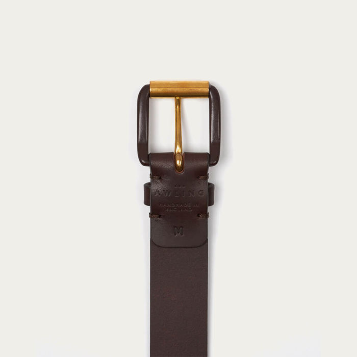Chocolate Brown/Brown Modernist Exposed Belt | Bombinate