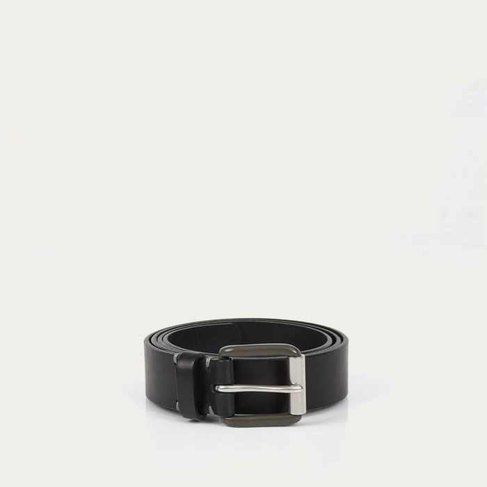 Pitch Black/Pewter Modernist Exposed Belt | Bombinate