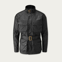 Black Speed 6 Wax Biker Jacket | Bombinate