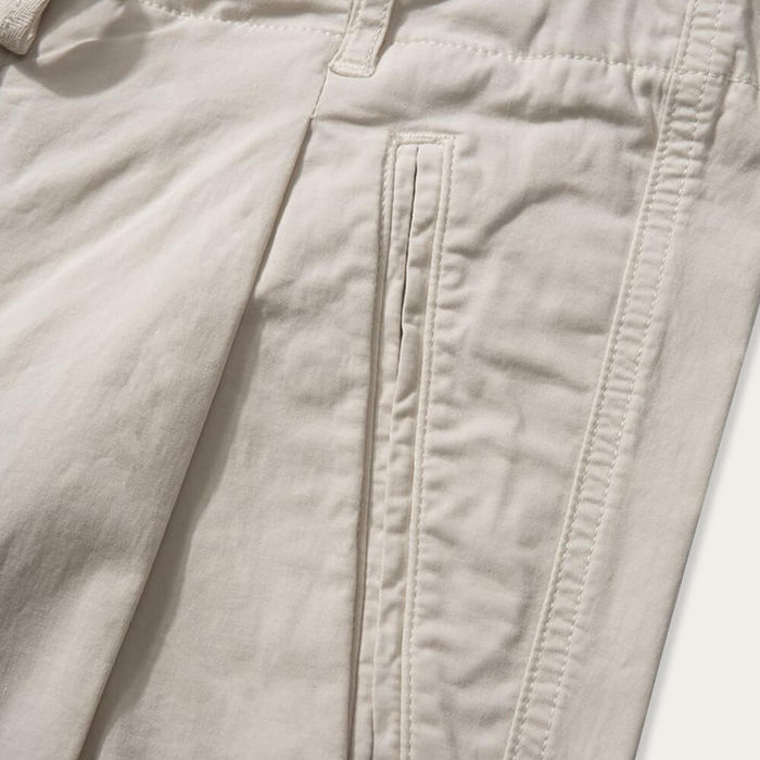 Beige Cotton Twill Owen Pants   Bombinate