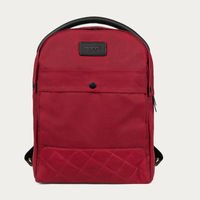 Red Bonnie Waxed Canvas Backpack    Bombinate