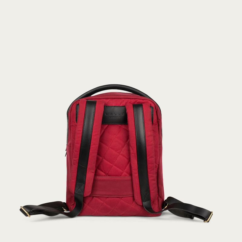 Red Bonnie Waxed Canvas Backpack  | Bombinate