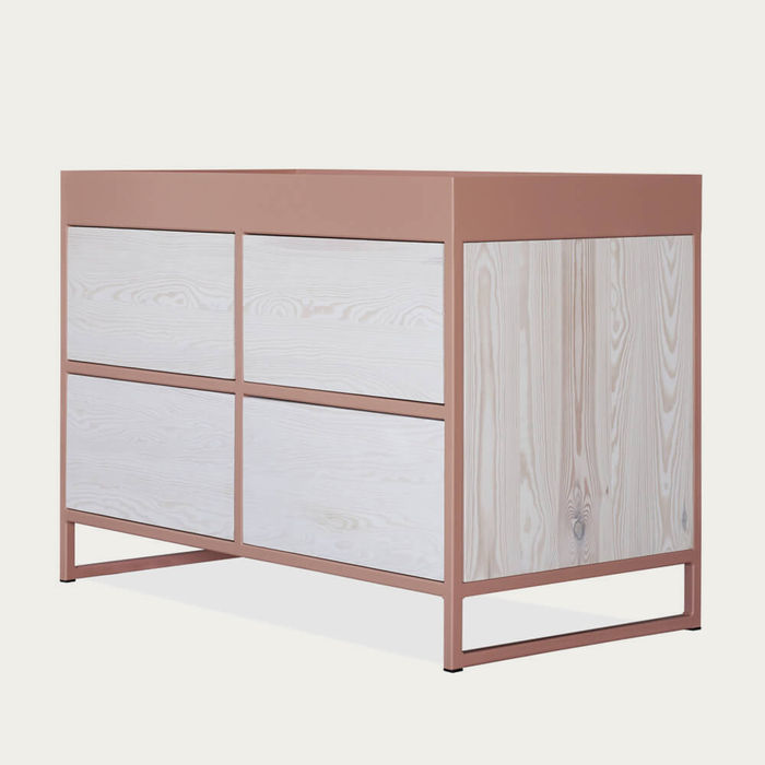 Beige Red Ray Sideboard | Bombinate