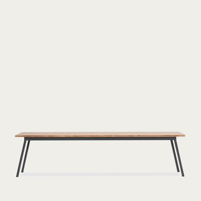 Oak Graphite Grey Valkenburg Bench | Bombinate