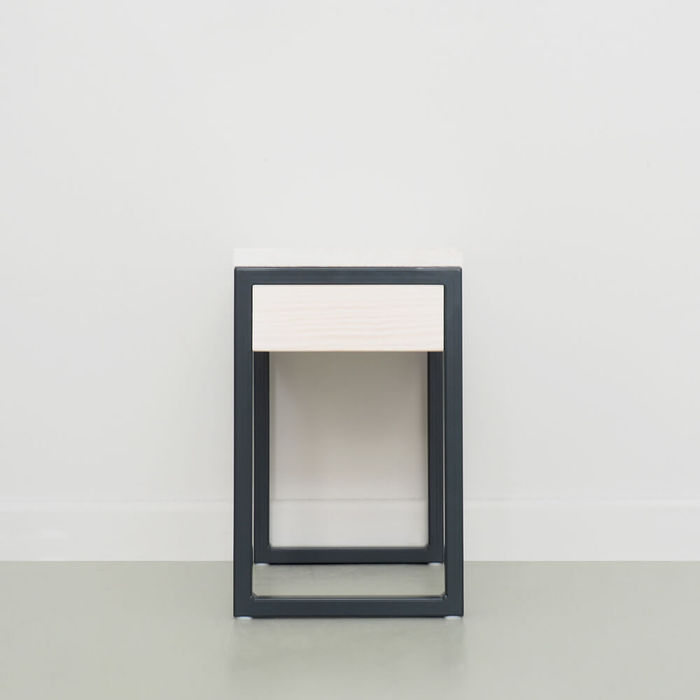 Anthracite Grey Luberon Nightstand with Drawer | Bombinate