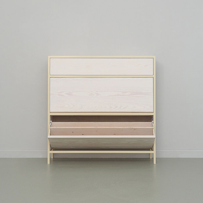Light Ivory Schoen Shoe Cabinet | Bombinate