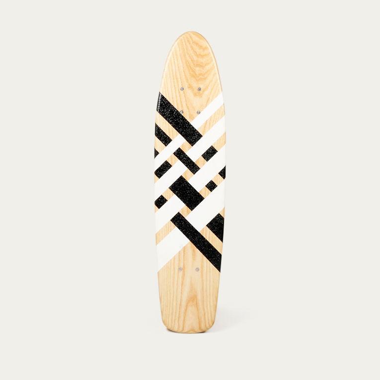 Stripes Cruiser #1 Skateboard | Bombinate
