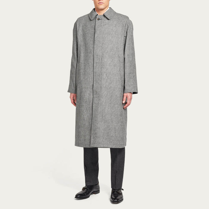 Black Runcorn Reversible Long Raincoat | Bombinate
