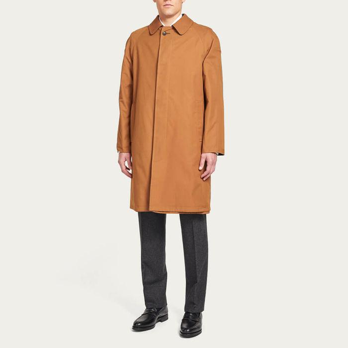 Tan Runcorn Reversible Short Raincoat | Bombinate