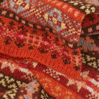 Orange & Red Clarendon Fairisle Scarf | Bombinate