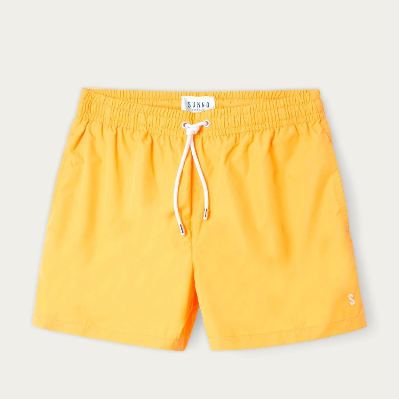 Mustard Yellow Solid Swim Trunks   Bombinate