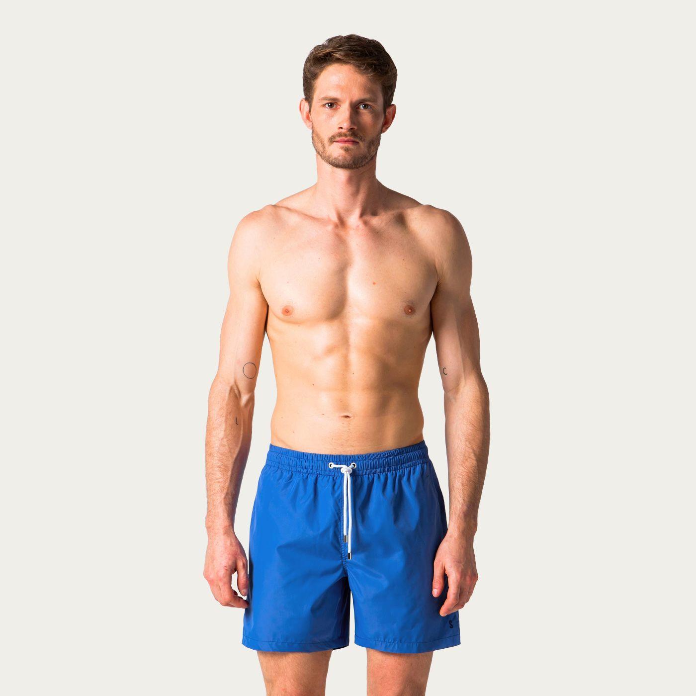 Royal Blue Solid Swim Trunks | Bombinate