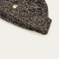 Charcoal Melange Wool & Cashmere Fisherman Beanie | Bombinate