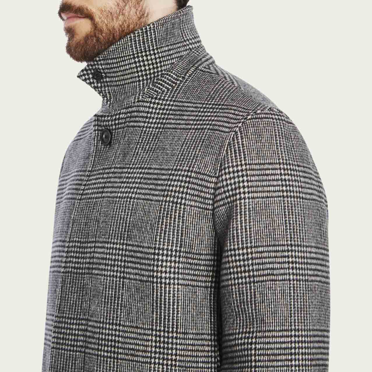 Prince of Wales Check Cashmere Topcoat  | Bombinate