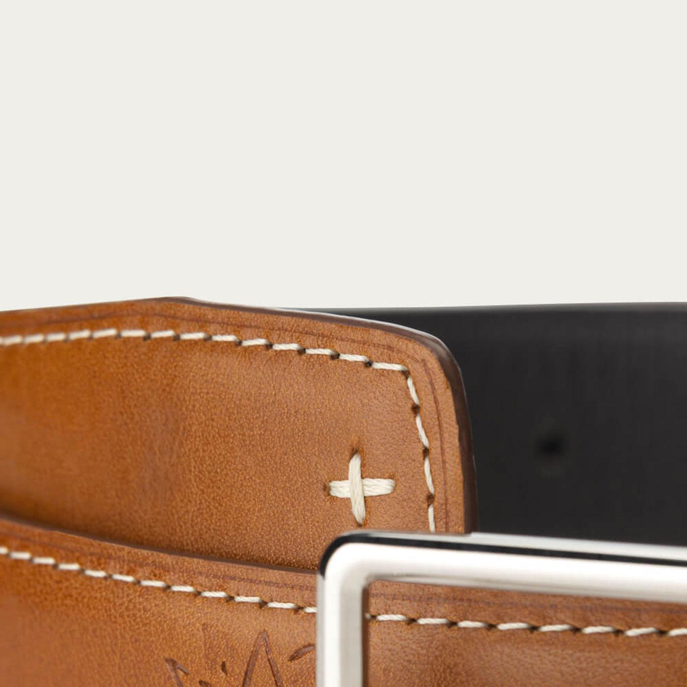 Cognac Poya Leather Belt | Bombinate