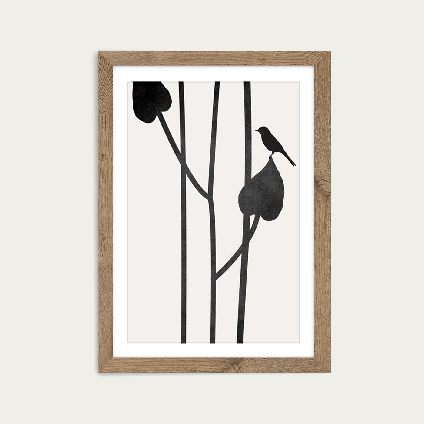 Beauty Of Silence Art Print Oak Frame | Bombinate