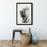 Black Orchidee Art Print Black Frame | Bombinate
