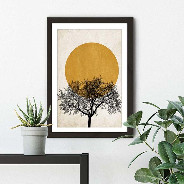 Winter Morning Art Print Black Frame | Bombinate