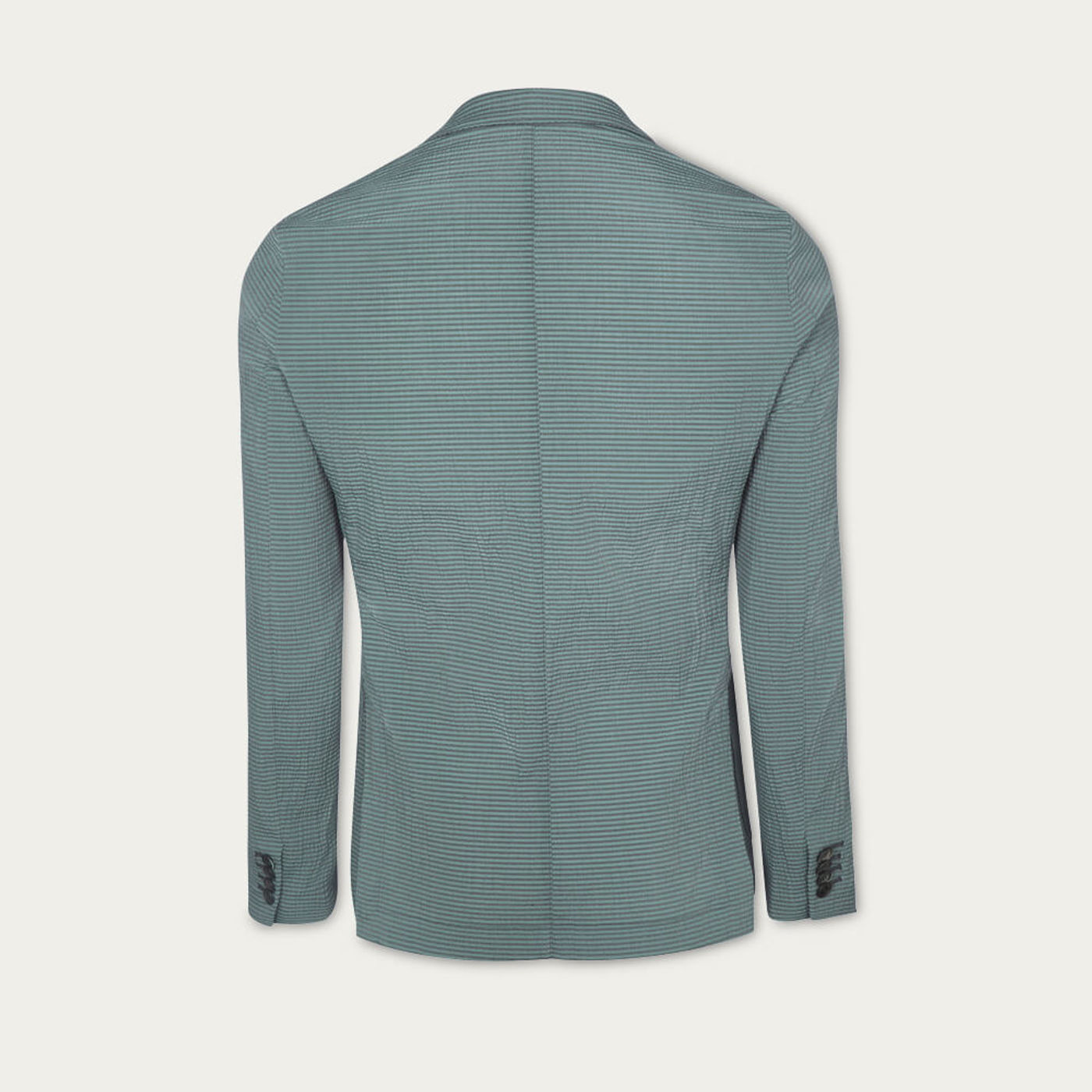 Dark Green Seersucker Stripe Jacket   Bombinate