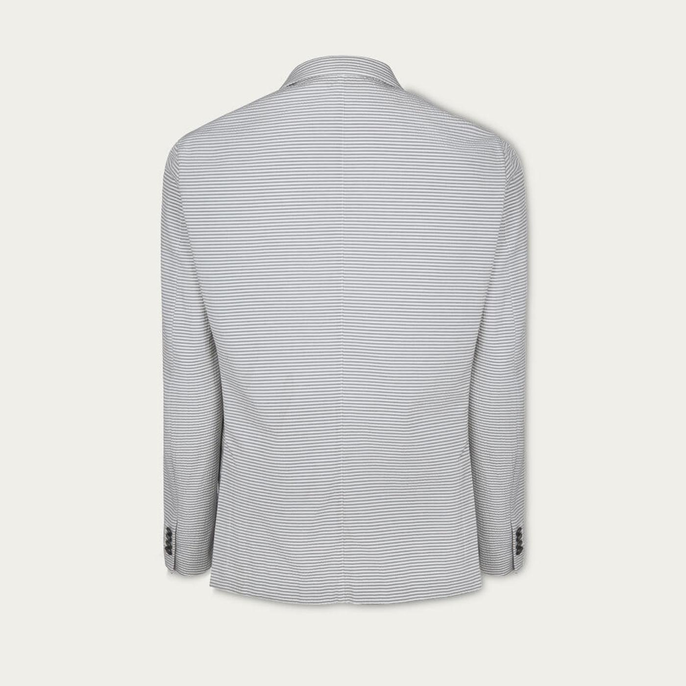 Blue Seersucker Stripe Jacket | Bombinate