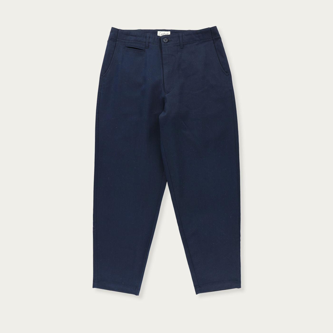 Navy Blue Beachspider Cotton Trouser   Bombinate