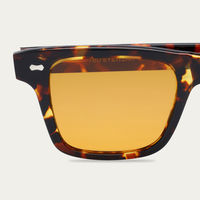 Dark Tortoise/Orange Denim Eco Sunglasses | Bombinate